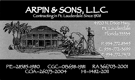 Arpin and Sons LLC Business Card